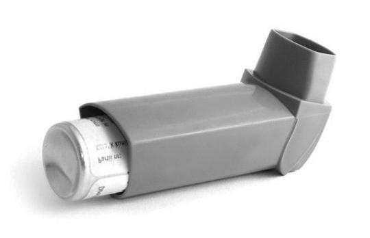 Traditional asthma inhalers are L-shaped.