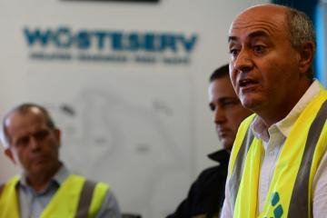 Minister Jose Herrera addressing the press. Photo: Jonathan Borg