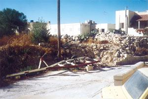 The rubble and chaos at the site of the Ta` Cieda Roman tower.