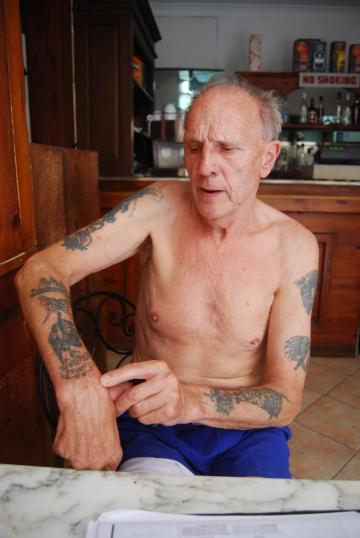The project focuses on tattoos on elderly males.