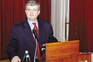 Justice and Home Affairs Minister Tonio Borg addressing yesterday`s conference on The Well-Being Of The Unborn Child.