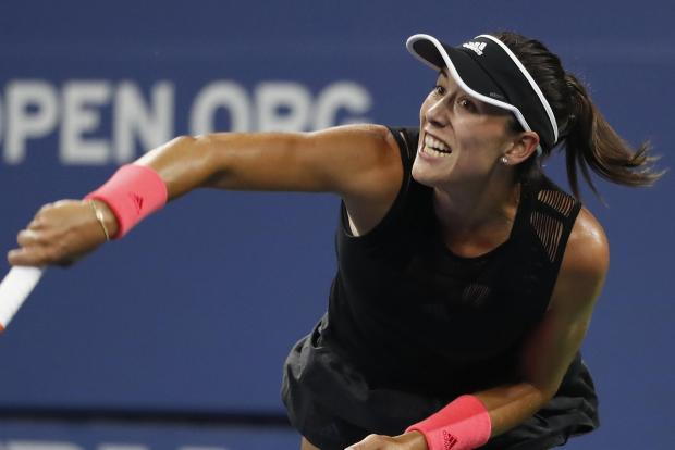 Garbine Muguruza crashed out of the US Open.