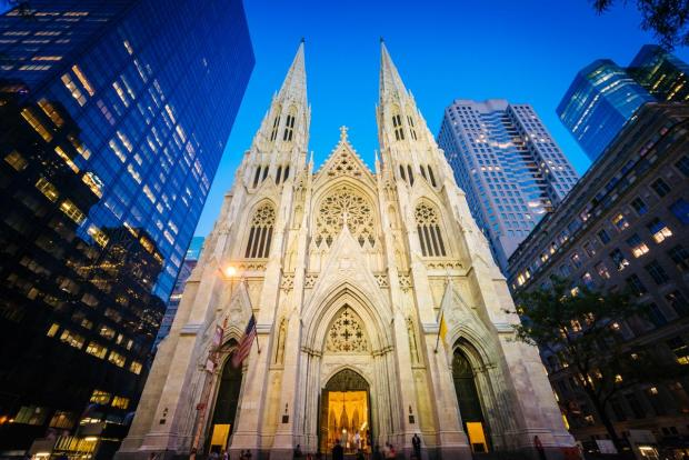 St Patrick's Cathedral in New York.