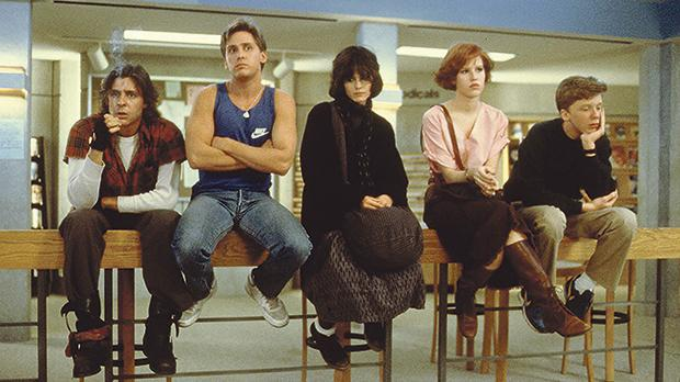 The protagonists of The Breakfast Club (1985)