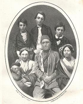 A Mohammedan Turkish family who were baptised at the Malta Protestant College.