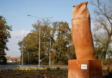 Phallic-shaped owl statue in Serbia's north sparks protests