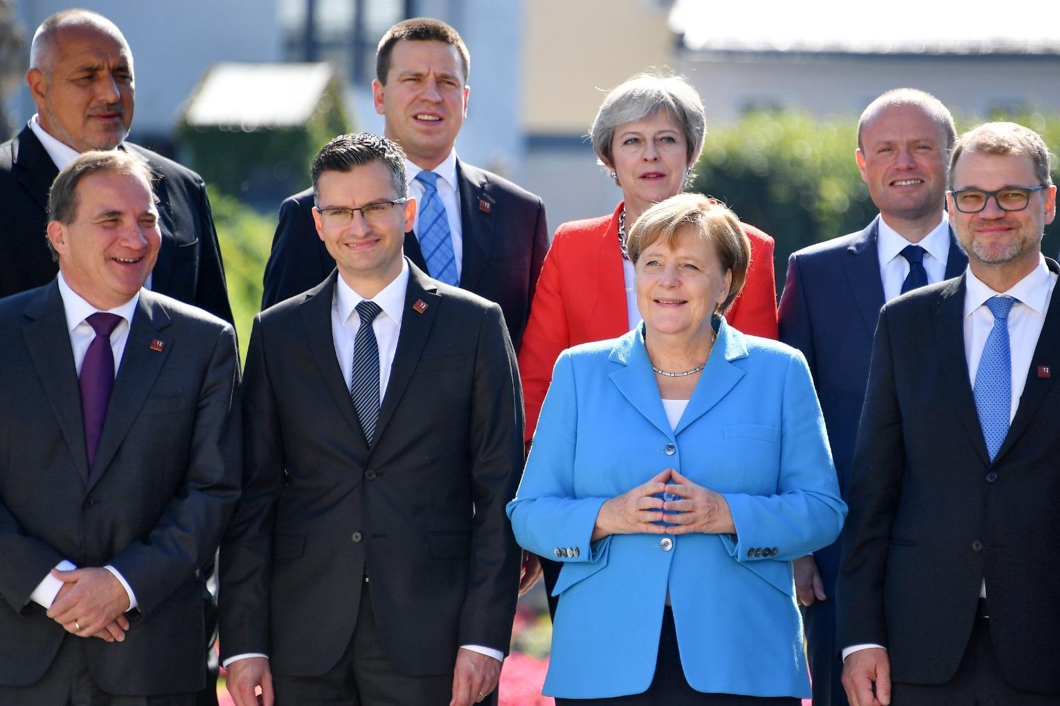 Muscat seen at an EU summit in Salzburg, Austria in 2018. Photo: AFP