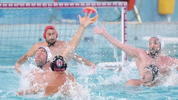 San Ġiljan were made to fight hard to beat Neptunes in the season-opener. Photos:Mark Zammit Cordina