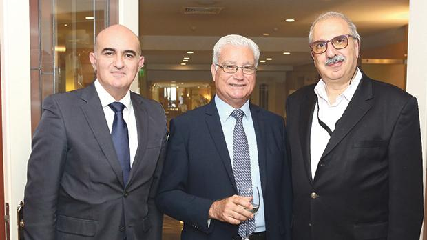 From left: Marcel Cassar, James Bonello and Mario Mallia