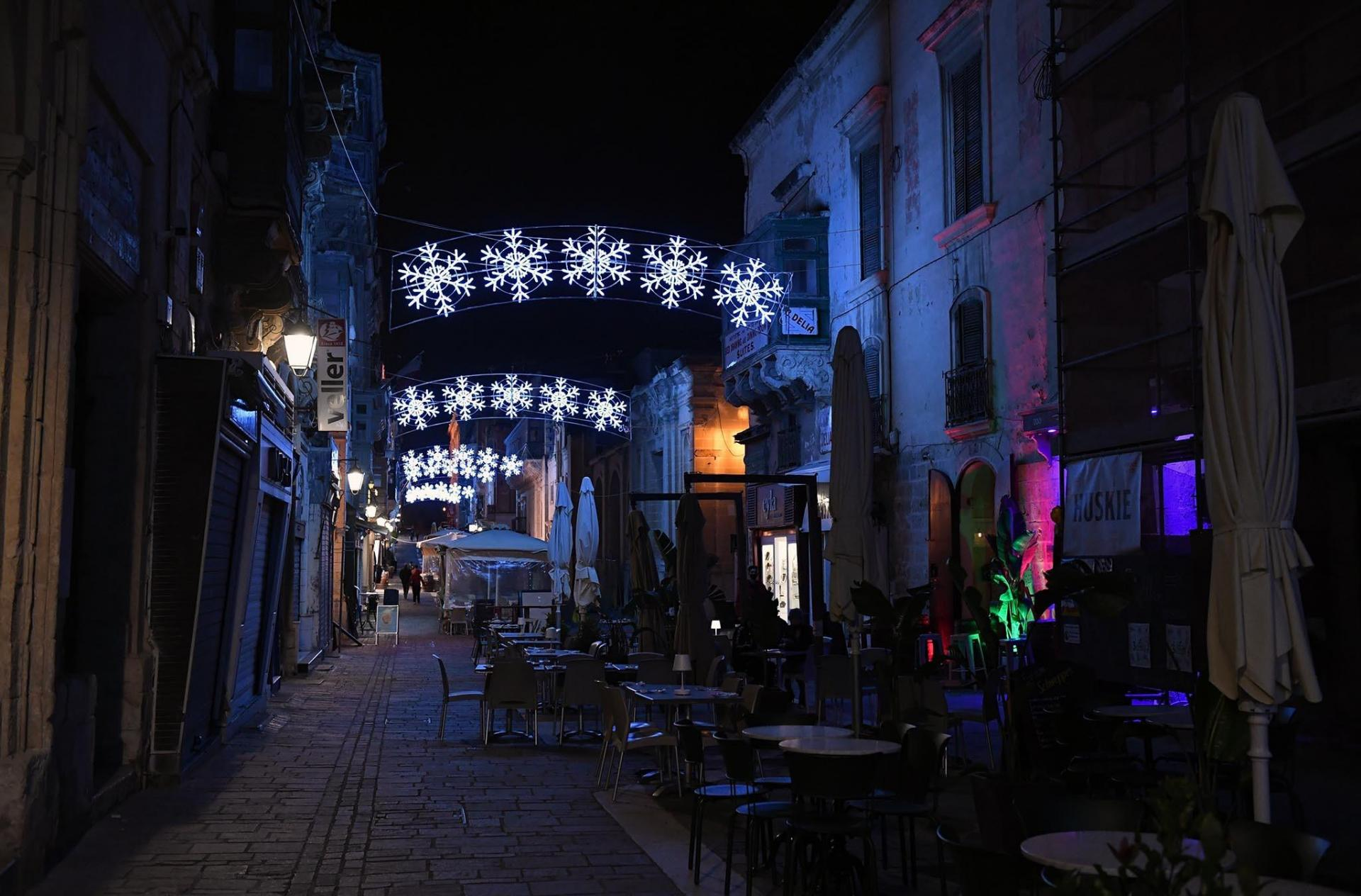 Lights have also been installed on Merchants Street and other main roads in the capital. Photo: DOI/Clifton Fenech