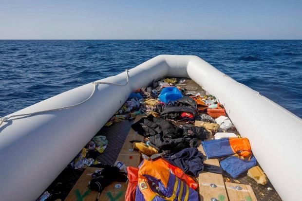 Dozens of migrants were crammed onto a dinghy like this one, and spent days stranded at sea. Photo: AFP.