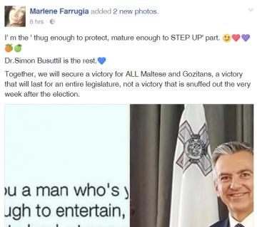 Marlene Farrugia's Facebook post.