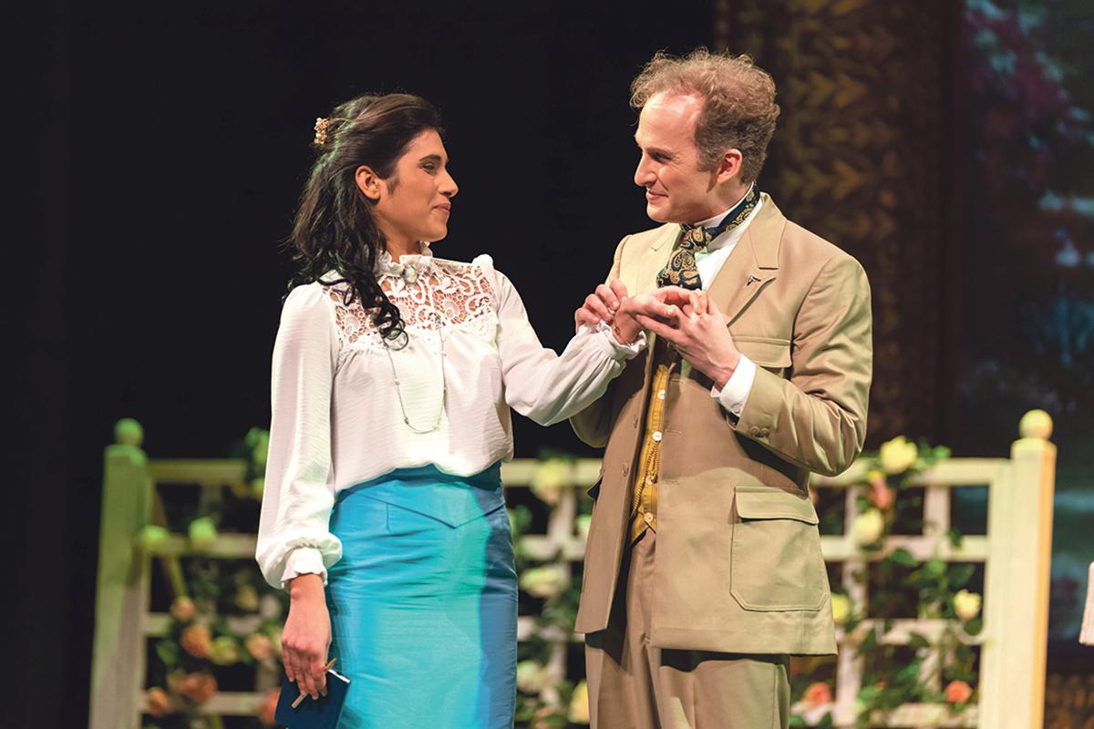 Michela Farrugia and Edward Caruana Galizia in The Importance of Being Earnest.