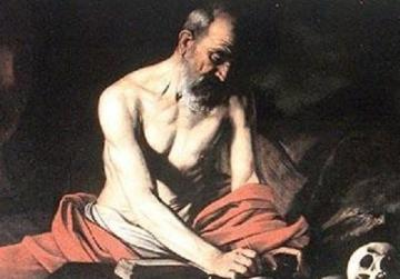 Caravaggio's St Jerome, also found at St John's Co-Cathedral.