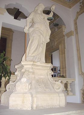 The statue of Justice at the Castellania Court in Merchants Street, Valletta. Was justice served in Alfred Christian's case?
