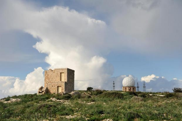 The Air Traffic radar at Dingli Cliffs on January 25. Photo: Chris Sant Fournier