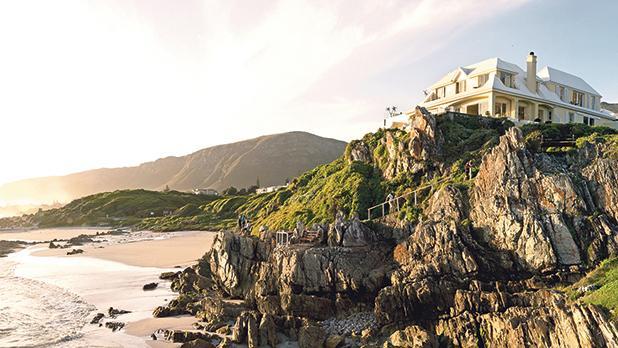 Birkenhead House from Voelklip Beach, South Africa.