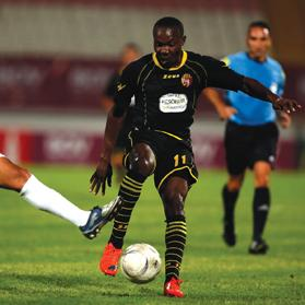 Nigerian forward Alfred Effiong (right) is willing to play for the national team if he acquires Maltese citizenship in the near future.