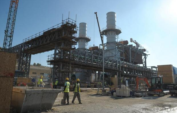 Works in progress on the new power station in Delimara. European Commission Vice-President for Energy Union Maros Sefcovic visited the site on November 9 and described the project as a blueprint for similar projects which blend various technologies. Photo: Matthew Mirabelli