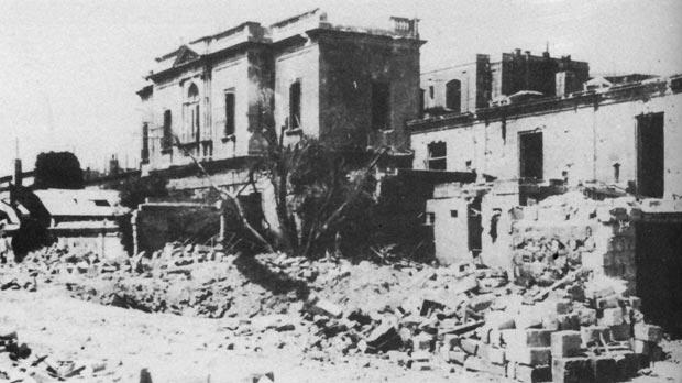 The Central Hospital was damaged by enemy action during World War II.