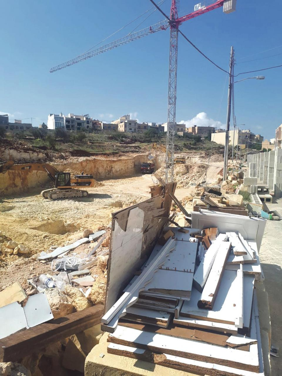 Excavations for the flats in Qala.