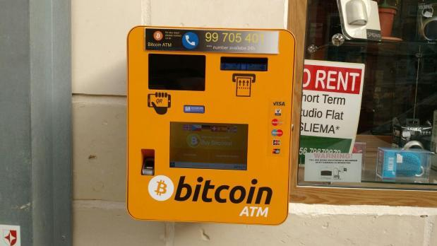 The new Bitcoin ATM installed recently.