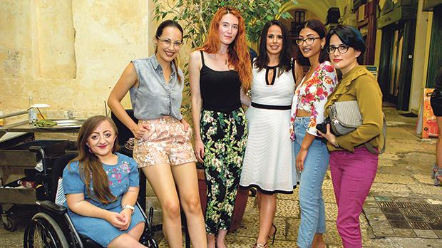 Melissa Pace, Dorianne Mamo, Magdalene Baldacchino, Abigail Vick and Fiona Vella
