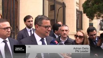 Watch: Adrian Delia denied copy of Egrant inquiry by court  | Dr Delia speaking outside court. Video: Chris Sant Fournier