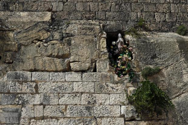 A niche with a statue of Our Lady is seen in the bastion walls beneath Fort St Elmo on July 10. Photo: Darrin Zammit Lupi