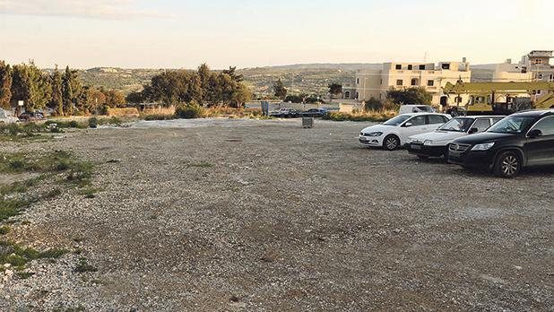 The site of the approved eight-storey hotel in Mellieħa