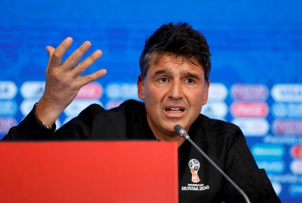 FIFA Refereeing Director Massimo Busacca attends a news conference.