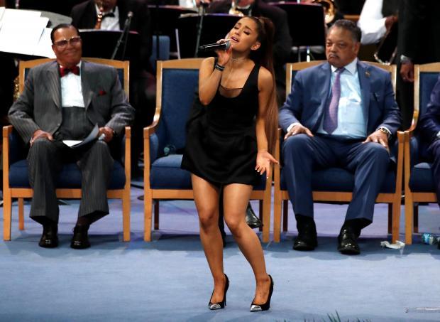 Ariana Grande performs. Photo: Reuters