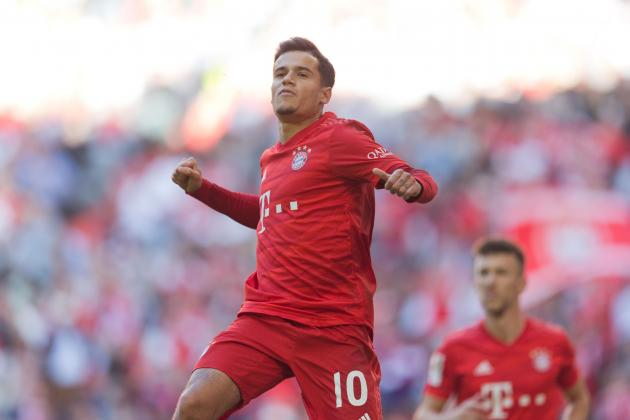 Watch: Coutinho and Lewandowski fire Bayern top with Cologne rout