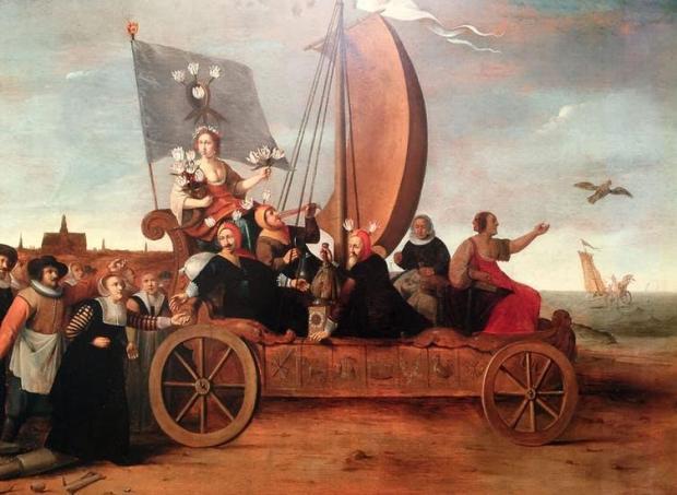 Floraes Mallewagen (Flora's wagon of fools): Hendrik Gerritsz Pot, c1640 (photo: Laura Blanchard), CC BY-SA