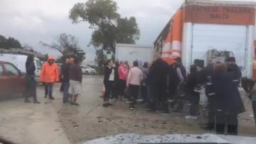 Disorganisation at Ta' Qali as people queue for stackable bins