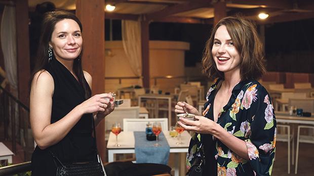 Maria Shebets and Mira Varakina.