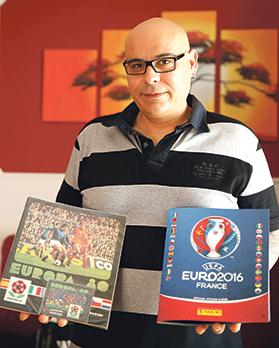 """""""They are part of my childhood."""" – Aldo Bugeja started collecting Panini stickers in 1982."""