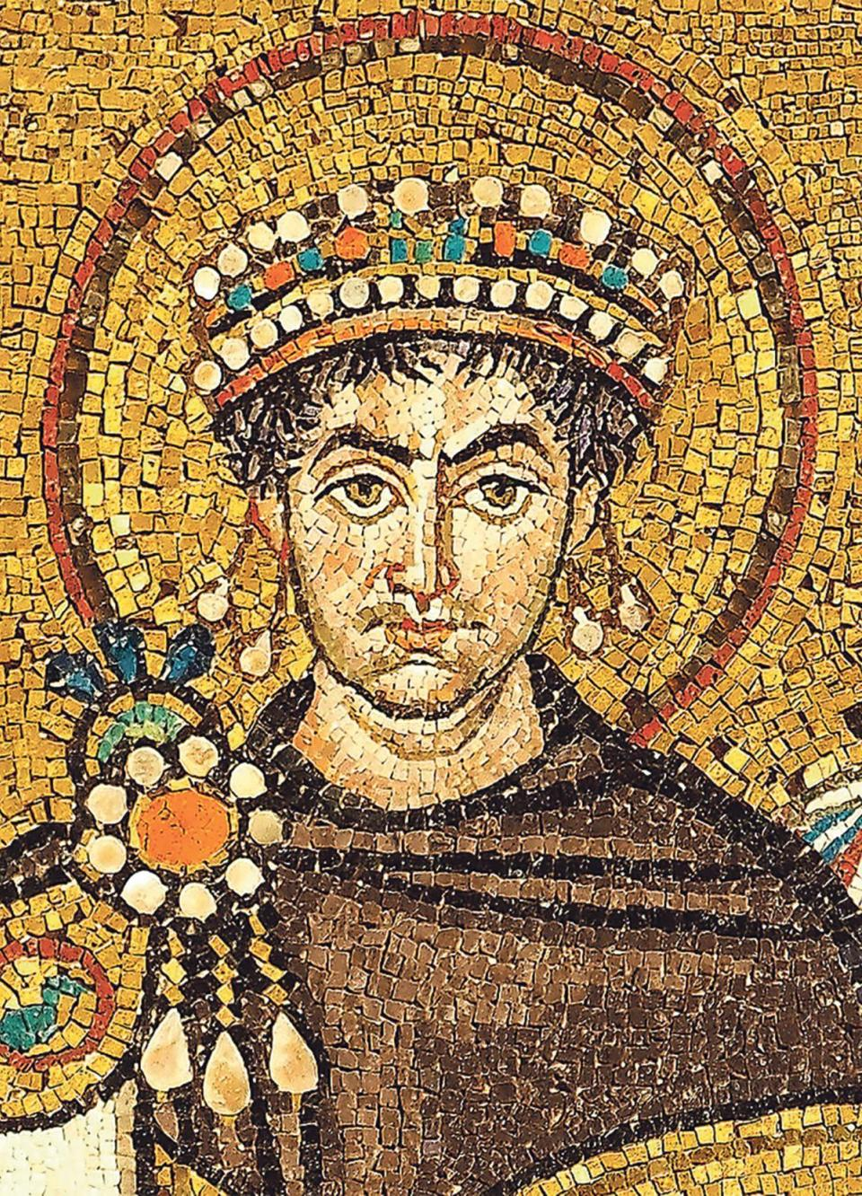 The Byzantine Emperor Justinian, who tried to re-conquer the Roman Western Empire. Malta became part of the Byzantine Empire during his reign. (From a mosaic in Ravenna, Italy)