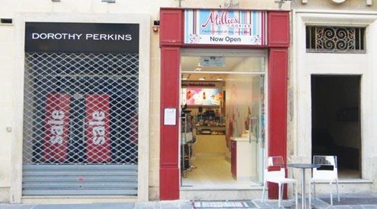 Millie's Cookies in Merchants Street, Valletta, is the brand's second store in Malta