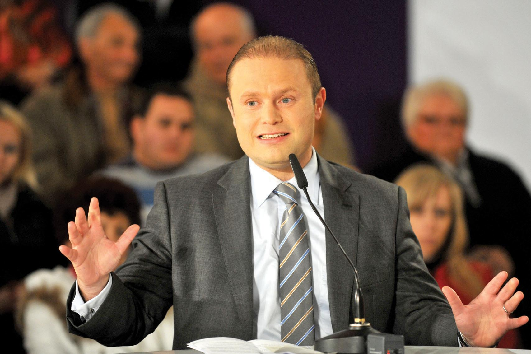 Joseph Muscat in 2014, one year into his leadership.