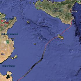 The route Helena flew while migrating over Malta. Inset: ospreys are fish-eaters and can be seen during their migration in both spring and autumn in Malta.