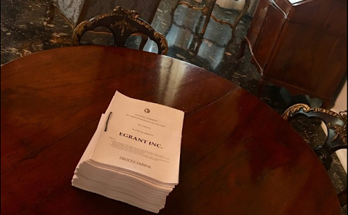 A photo of the full inquiry published by the government's head of communications Kurt Farrugia.