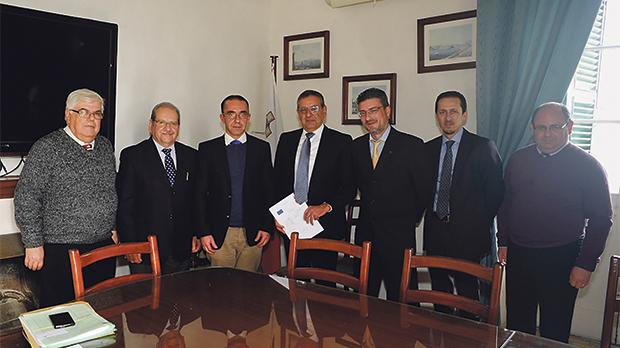 From left: Albert Zammit, Customs manager, Research and Development; Paul Bonello, adviser, Customs Procedures and AEO programme; Alan Mamo, Customs director, Compliance and Systems; Joe Gerada, Thomas Smith Group's managing director; Bernard Muscat, Thomas Smith's assistant cargo general manager; Donald Naudi, Thomas Smith shipping operations manager; and Francis Callus, Inspector of Customs and Customs AEO contact person.