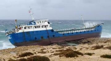 The vessel broke its moorings at Sikka l-Bajda. Video: Jonathan Borg