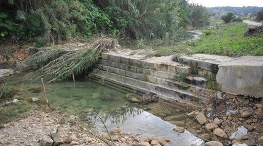 This dam in Qormi, built by the British for flood relief, is all silted up, rendering it ineffective. Photo: Jason Borg