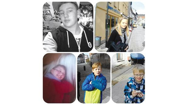 Sonja Bergfeld's five children who were taken from her by the German Youth Office.