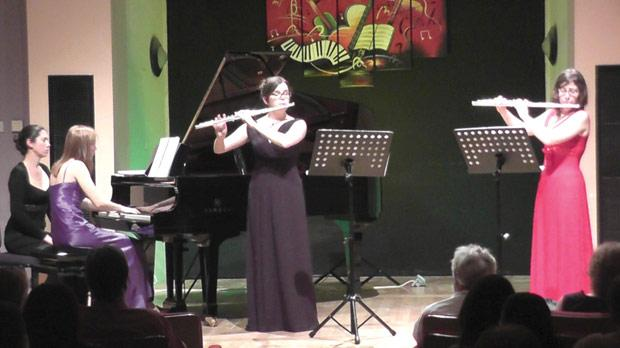 Maltese flautists Laura Cioffi (right) and Clara Galea during one of the concerts.