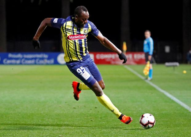 Usain Bolt netted a brace in a friendly for Central Coast Mariners.