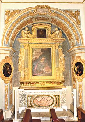 The first recorded printing in Malta of a part of the Gospel was for use at the altar of St John the Evangelist in Our Lady of Victories church, Valletta. Photo: Courtesy of Din L-Art Ħelwa