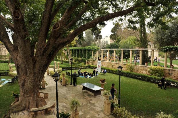 The President's Secret Garden in San Anton, Attard on March 20. Photo: Chris Sant Fournier